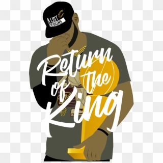 Illustration Of Nba Player Lebron James Holding The Return Of The King Lebron James Hd Png Download 1810x2756 1368020 Pngfind