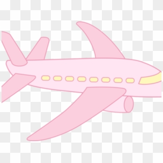 cute pink airplane clipart