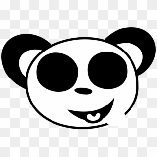 Smiley Face Black And White Black And White Smiley Panda Face Coloring Pages Hd Png Download 1979x1308 24112 Pngfind