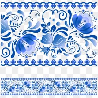 Blue Floral Background Mavi Cicekli Cerceveler Hd Png Download 800x781 2102044 Pngfind