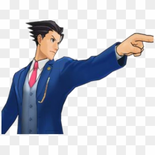 Ace Attorney Clipart Objection Phoenix Wright Point Gif Hd Png Download 640x480 2187453 Pngfind
