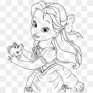 Baby Princess Belle Coloring Page Kids Coloring Pages Baby