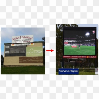 Electronic Scoreboard Installation At Jubilee Park Banner Hd Png Download 1200x630 2479904 Pngfind