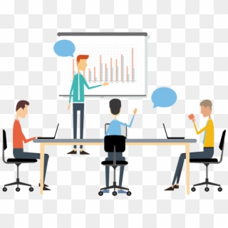 Png Black And White Business Discussion Clipart Cartoon Conference Meeting Transparent Png 800x590 2656520 Pngfind