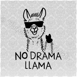 Llama Clipart Svg No Drama Llama Svg Hd Png Download 3000x3000 285198 Pngfind