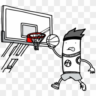 Banner Basket Ball Hoop Clip - Basketball Goal Silhouette Png Transparent  Png (#101456) - PinClipart