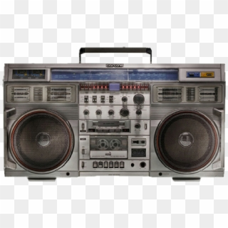 1980s Boombox Compact Cassette Clip Art - Musical Instrument Accessory -  Vector Radio Transparent PNG