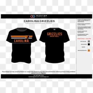 Carolina Grizzlies Black Gray Orange White Custom Design Team Polo Shirt Design Hd Png Download 1000x707 317421 Pngfind