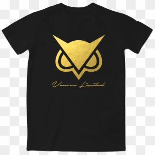 The Golden Limited Vanoss T Shirt Roblox Limited Edition Vanoss Gold Foil Logo T Shirt Vanoss Limited Hd Png Download 600x593 3343268 Pngfind