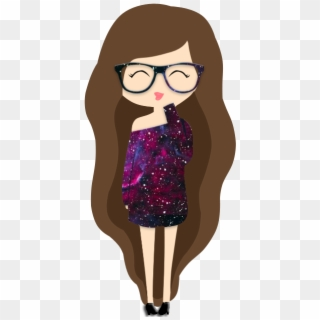 Tumblr Girl Nerd - Girl With Glasses Drawing , Free Transparent Clipart -  ClipartKey