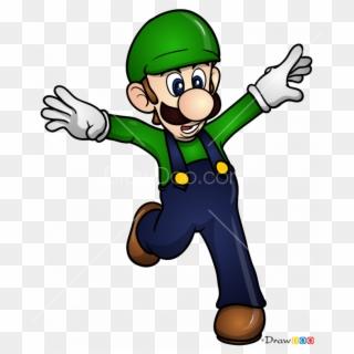 How To Draw Super Mario Mario Luigi Coloring Page Hd Png