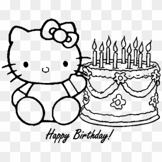 Happy Birthday Coloring Pages 360coloringpages Hello Kitty Birthday Coloring Pages Hd Png Download 720x452 4679909 Pngfind