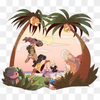 Lillie Gladion Moon X Hau , Png Download - Pokemon Hau X Gladion ...