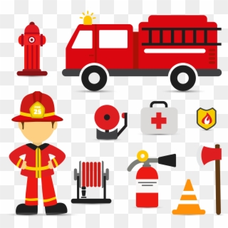 Firefighter Fire Engine Euclidean Vector Fire Truck Svg Free Hd Png Download 2663x2451 5132532 Pngfind