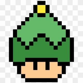 Hongo Verde Pixel Mario Green Mushroom Hd Png Download