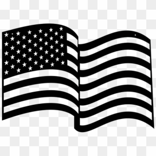 Free Us Flag Black And White Clip Art with No Background - ClipartKey