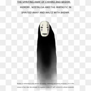 Spirited Away No Face Png Download Poster Transparent Png 451x707 6283101 Pngfind