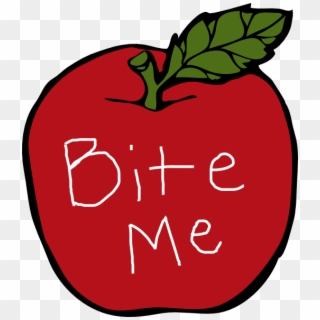 Bite Me Apple Clip Art At Clker Apples Free Clipart Black And White Hd Png Download 522x593 630794 Pngfind