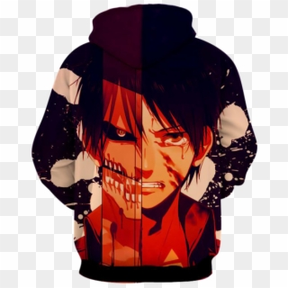 Eren Yeager Hoodie Attack On Titan 3d Hoodie Anime Boy Wallpaper Hd Cool Hd Png Download 600x600 6638826 Pngfind