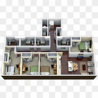 Floor Plans 4 Bedroom Luxury Apartment Hd Png Download 1240x796 6645345 Pngfind