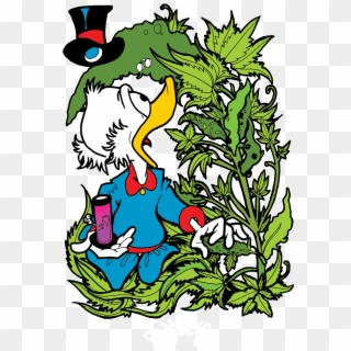 Scrooge Mcduck Smoking Weed Hd Png Download 827x1198 6821101