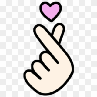 Love Heart Hand Saranghaeyo Easy Finger Heart Drawing Hd Png Download 1024x1024 6860495 Pngfind
